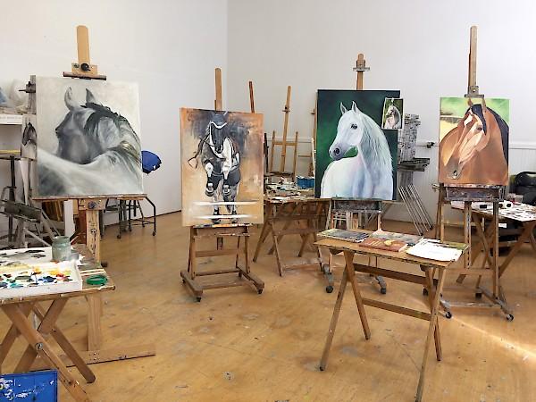 Equine Painting Visual Arts Katonah Art Center