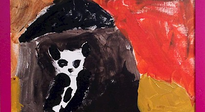 The Panda - Shruthi Franklin (oil on canvas)