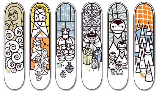 Graphic guru skateboard deck artist don pendleton - Skateboard dessin ...